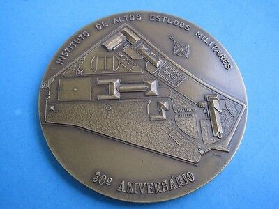 30th anniversary of the institute higher military studies 1958/1988 bronze medal