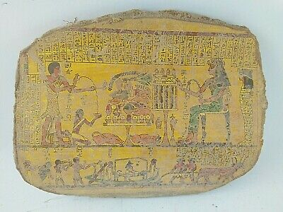 RARE ANCIENT EGYPTIAN ANTIQUE FUNERAL Boat Pottery Fragment 1547-1235 BC