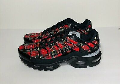 d1584669fb Women's Nike Air Max Plus TN SE Tartan AV9955-001 Red Plaid Yellow WMNS Size