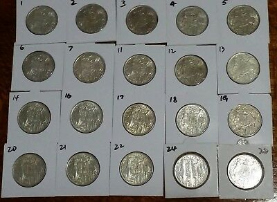 1966 50c AUSTRALIAN ROUND 50 C FIFTY CENT COINS 80% Silver LOT of 20 IN HOLDERS