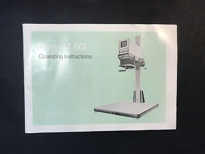 Vintage DURST M 601 Photographic Enlarger Operating Instruction Manual Book