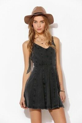 9429f3d043c NWT URBAN OUTFITTERS BDG Acid Wash Gray Skater Babydoll Dress Y Back Size  Small