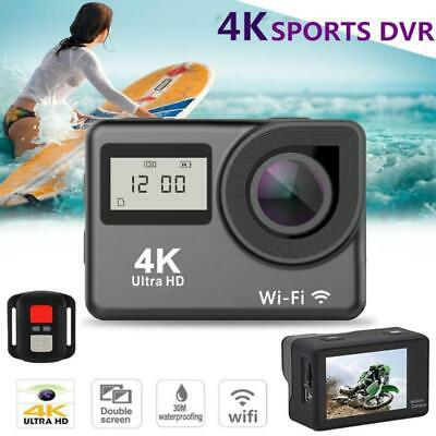 4K Touch Action Sports Camera WIFI FHD 1080P Dual Screen 12MP 30m Waterproof Cam