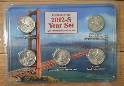 2012 S Uncirculated Year Set - San Francsco Mint Quarters-Very Rare- See Below