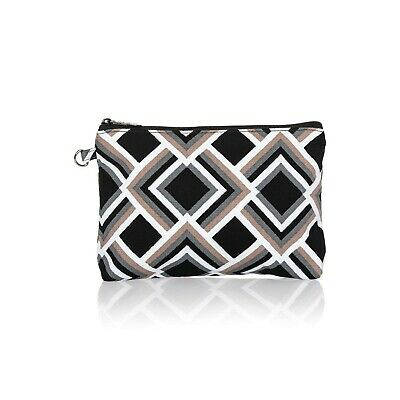 Thirty One 31 Gifts Mini Zipper Pouch -Deco Diamond Print - New In Package