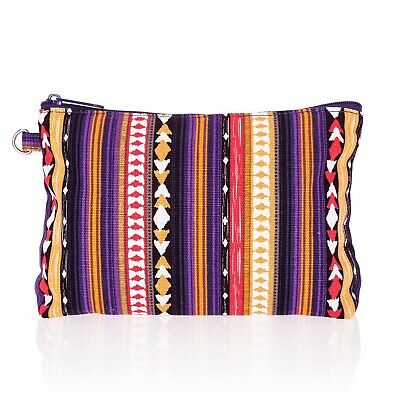 Thirty One 31 Gifts Mini Zipper Pouch -Purple Southwest Stripe- New In Package