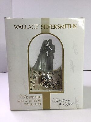 Wallace Silversmiths Silver Plated Musical Wedding Water Snow Globe W715100