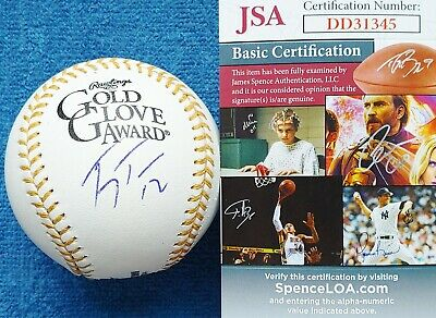 Ivan Rodriguez Autographed Signed Mlb Gold Glove Award Baseball Ball Jsa Coa Sports Mem, Cards & Fan Shop Baseball-mlb