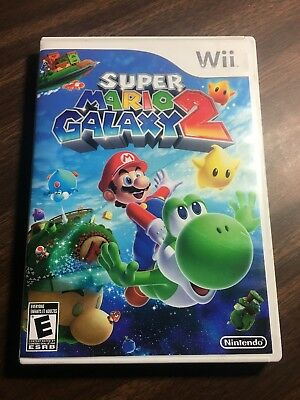 Super Mario Galaxy 2 (Nintendo Wii, 2010) Tested Works Great Complete Manual
