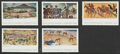US 5372-5376 Post Office Murals forever set (5 stamps) MNH 2019