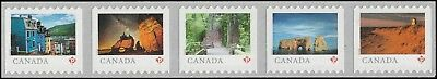 Canada 3057-3061 3061a Far & Wide 'P' strip set (from coil of 5000) MNH 2018