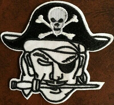 """1  White Face Pirate Patch - new - sweat proof 2  3/4"""" tall X 3  1/8"""" wide"""