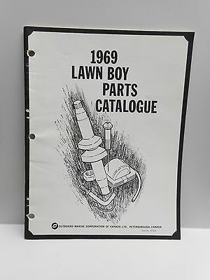 Vintage - 1969 LAWN BOY PARTS CATALOGUE - OMC CANADA LTD. Push and Riding Mowers