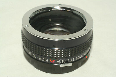 Soligor MP Auto Tele Converter 2X To Fit OM Olympus manual focus mount with case