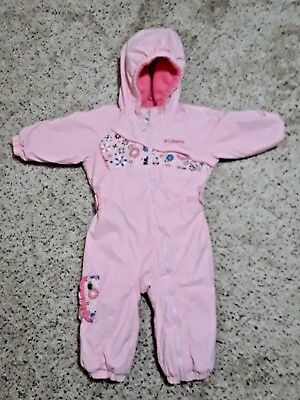 0d5421b05 COLUMBIA Baby Girls Waterproof Omni-Shield Bunting Snowsuit Pink Infant 18  Mo