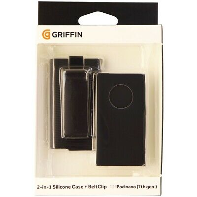 Griffin 2 in 1 Silicone Case with Belt Clip Holster for iPod Nano 7 & 8 - Black