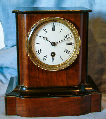 *Antique - French, 8 day, Wooden Mantel Clock* - Circa 1900