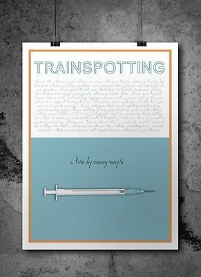 Trainspotting Inspired Retro Movie Print/ Poster A3 - Digital Art, Film Poster