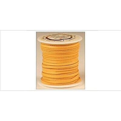 """Tandy Leather Deerskin Lace 1/8"""" x 50 Ft Gold 5067-06 - 125x Spoolsaddle Tan"""