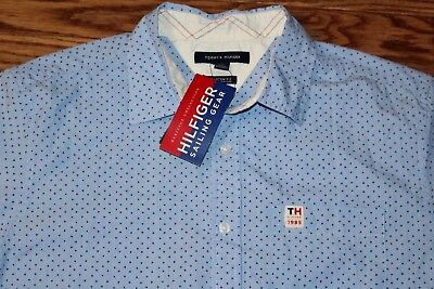 ae6fa66c19e NWT Men's $70 TOMMY HILFIGER Sailing Gear 1985 Heritage Collection Button  Down M