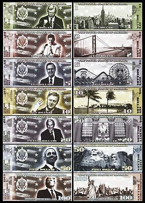 SET, USA Presidents $1-2-5-10-20-50-100, 2018, Private Issue, UNC