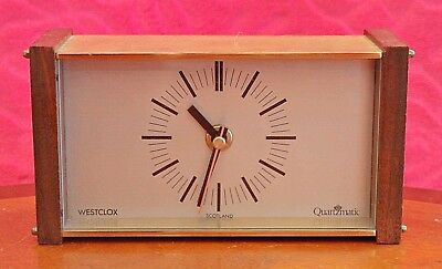 Vintage 'Westclox' Quartz Battery Powered Desk Clock