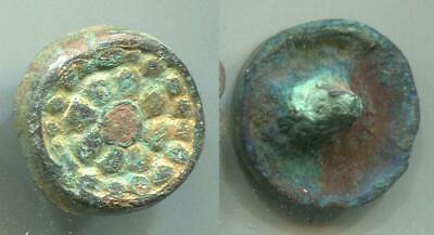 (16092)Early Islamic bronze small Belt decoration from Chach oasis