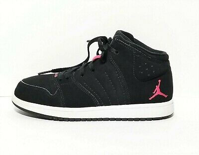 the best attitude 47528 94809 Nike Jordan 1 Flight 4 Prem GP Basketball Shoes Black Pink 828246-009 Kids  2Y