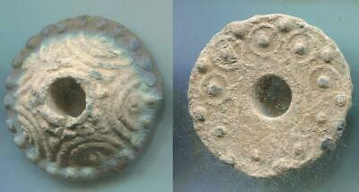 (16013)Early Islamic Lead Button from Shash oasis