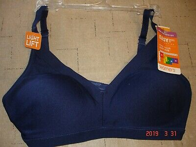 f6300d3fa10cc Warners Women s Easy Does It Wire-Free Bra - RN0212A NAVY Size SMALL NEW W
