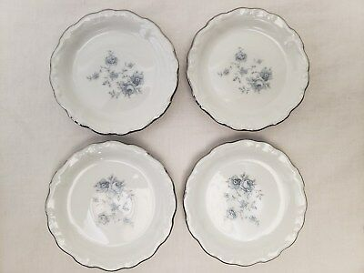 "Set of 4 Vintage Johann Haviland Bavaria Blue Garland 3.5"" Mini Plates EXCELLENT"