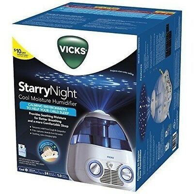 Vicks Starry Night Cool Moisture Humidifier, Vicks Humidifier for Bedrooms, Baby