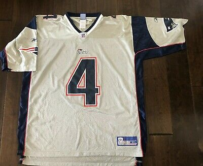 wholesale dealer 44fa2 60902 ADAM VINATIERI NEW England Patriots NFL Reebok Silver Football Jersey Men's  XL