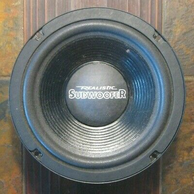 """8"""" Realistic/Radio Shack Dual Voice Coil Subwoofer Cat No. 40-1348"""