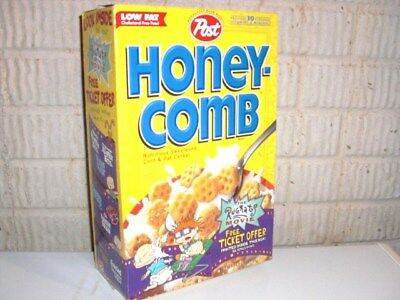 Vintage 1998 HoneyCombs RUGRATS MOVIE OFFER Cereal Box