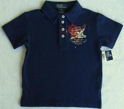 NWT Ralph Lauren Boys Dark Blue Polo(Size 12 Months) MSRP$40.00 NEW