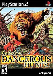 Cabela's Dangerous Hunts (Sony PlayStation 2, 2003) DISC IS GREATEST HITS PS2