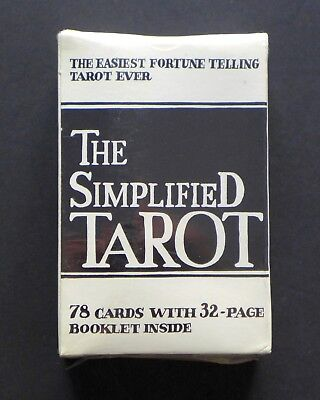 ENGLISH Edition The Simplified Tarot Cards Deck Vintage FACTORY SEALED!