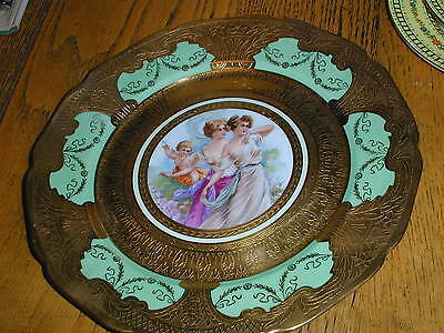 Vintage Bohemia Ceramics 24kt Gold Hand Painted Plate-ROCHET-11 Different Syles