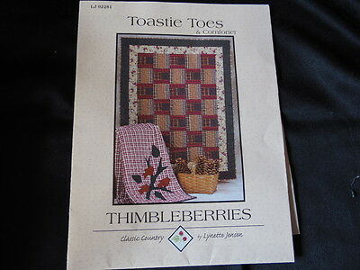 TOASTIE TOES QUILT Kit THIMBLEBERRIES PATTERN Pre cut Fabrics Included