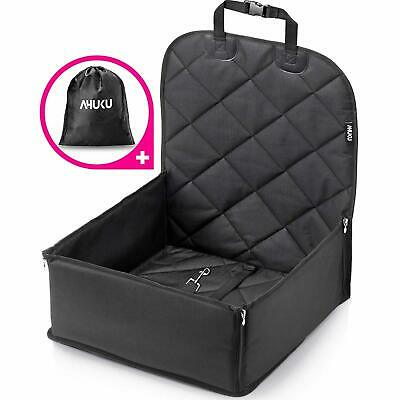 Waterproof Dog Car Seat with Seat Belt and Padded Sides Pet Booster Seat Black