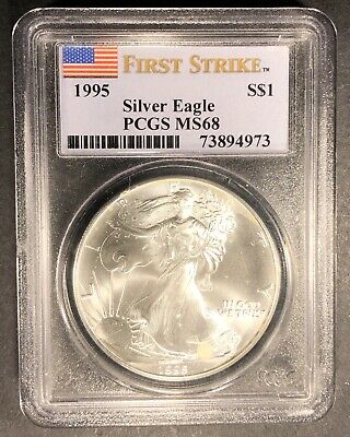 1995 Silver Eagle First Strike PCGS MS-68, Buy 3 Items, Get $5 Off!