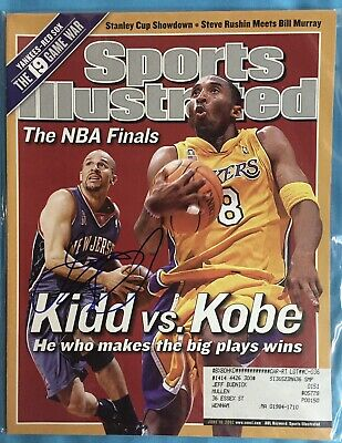 43c4e96c9e0 Jason Kidd New Jersey Nets Signed Sports Illustrated 6/10/02 Issue NBA NJ