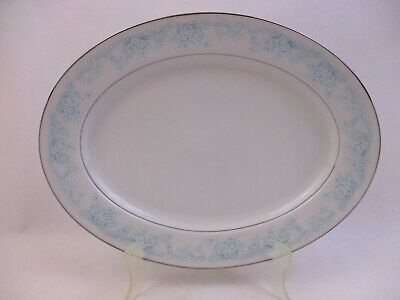 """Kenmark China - Wisteria 2630 - Blue/White Floral - Serving Platter 13.75""""(52P2)"""