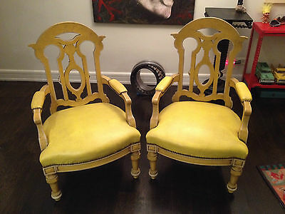 "2 (Two) Large Antique Vintage Chairs Gothic Victorian ""local Nyc Pick-Up Only"""