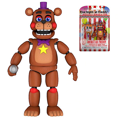 "Rockstar Freddy Five Nights at Freddy's Pizzeria Simulatior 5"" Poseable Action F"