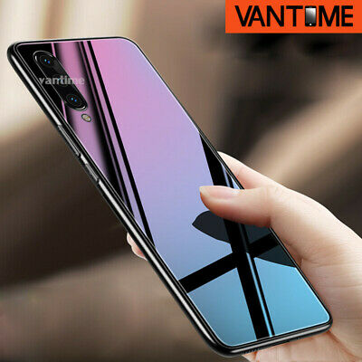 For Samsung Galaxy A50 A30 M20 S10+ Tempered Glass Case Hard Shockrpoof Cover