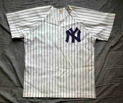 5fd63820f VINTAGE NEW YORK Yankees Russell Athletic MLB Jersey Blue Navy Men s ...