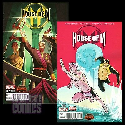 HOUSE OF M #2 Regular Cover & 1:25 HUMMEL Variant SET 1st Print MARVEL Comics NM