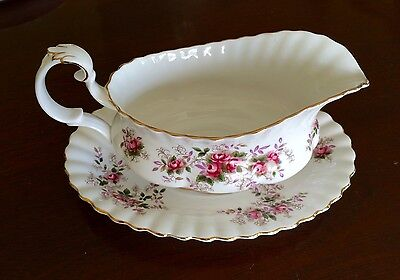 Royal Albert Lavender Rose Gravy Boat with Underplate